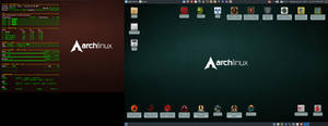 June 2019 Desktop - Arch Linux and Xfce