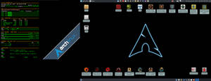 July 2019 Desktop - Arch Linux and Xfce