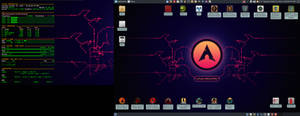 October 2019 Desktop - Arch Linux and Xfce