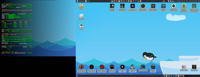 June 2020 Desktop - Arch Linux and Xfce by hamishpaulwilson