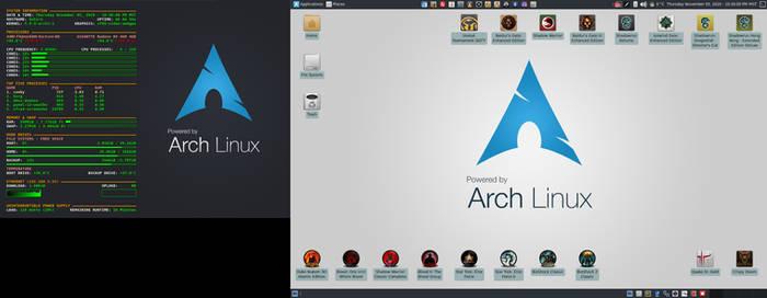 November 2020 Desktop - Arch Linux and Xfce