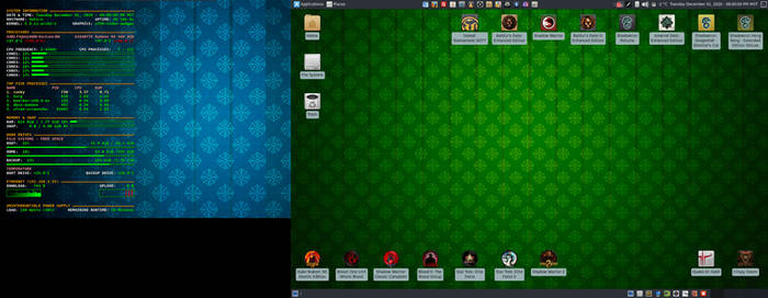December 2020 Desktop - Arch Linux and Xfce
