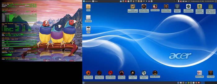 January 2021 Desktop - Arch Linux and Xfce