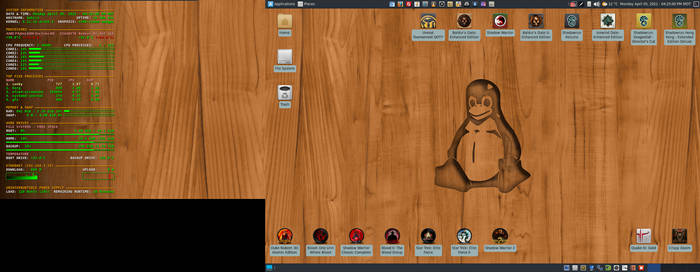 April 2021 Desktop - Arch Linux and Xfce