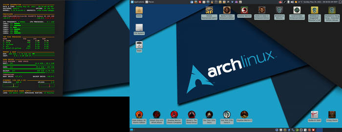 May 2021 Desktop - Arch Linux and Xfce