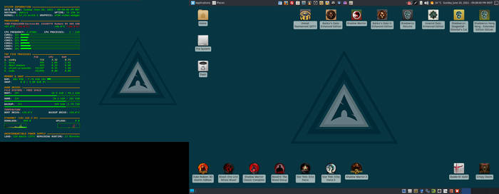 June 2021 Desktop - Arch Linux and Xfce