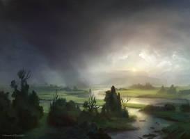 Plains (Innistrad) by AdamPaquette