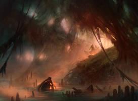Swamp (Avacyn Restored) by AdamPaquette