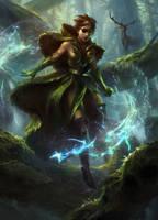 Freyalise: LLanowar's Fury by AdamPaquette
