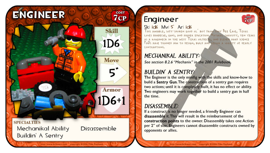 BrikWars Card - TF2 Engineer by Bleu-Ninja