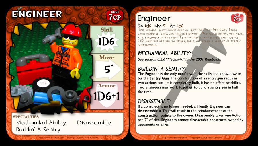 BrikWars Card - TF2 Engineer by Bleu-Ninja