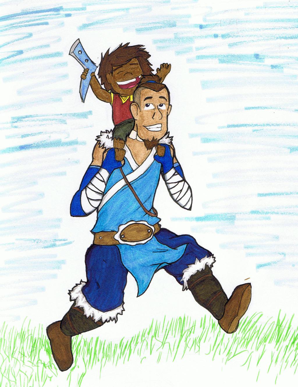 Sokka and Bumi - Bendless Boomerangers by Bleu-Ninja
