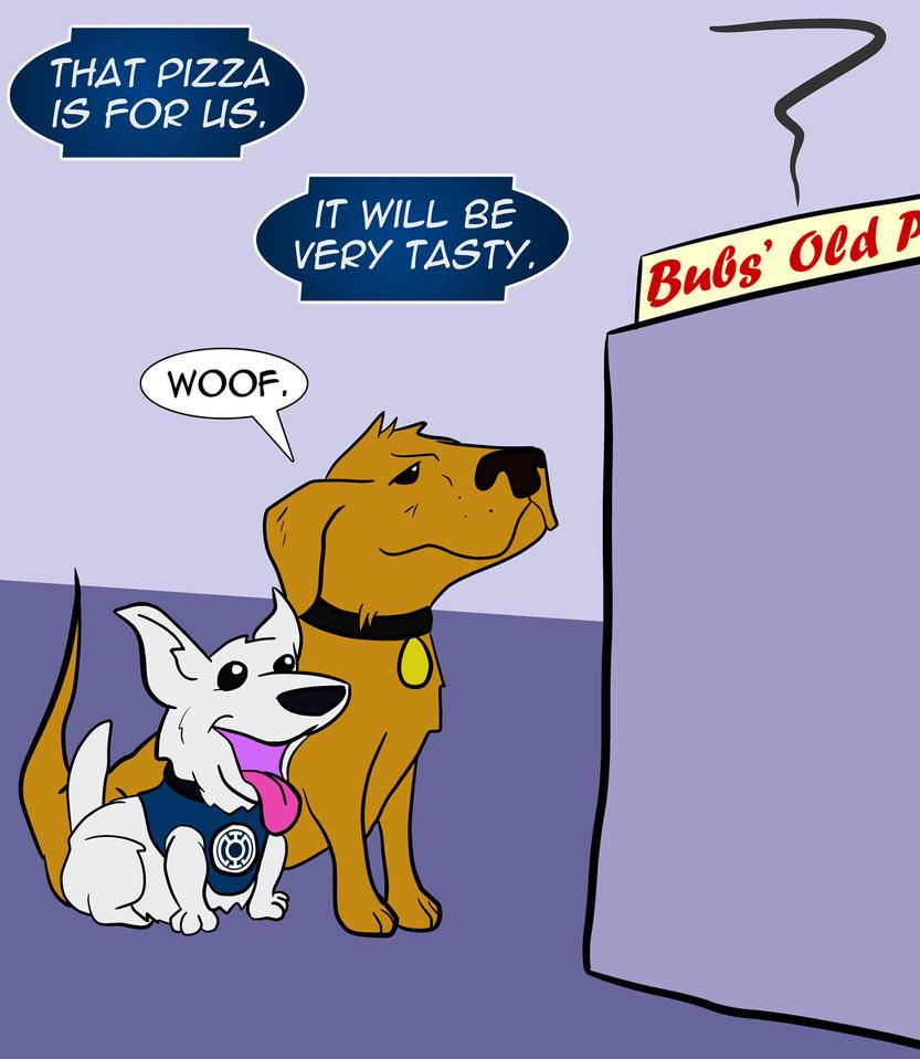Pizza Dog and Hope Corgi by Bleu-Ninja
