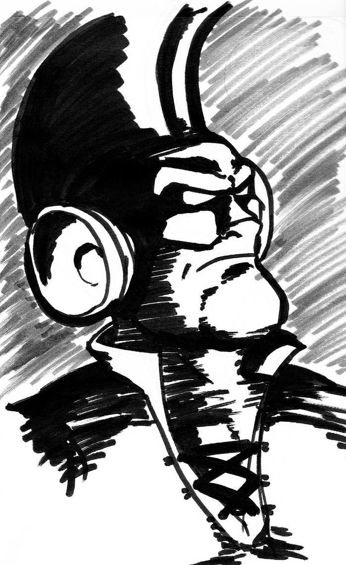 Larry-Boy [inktober] by Bleu-Ninja