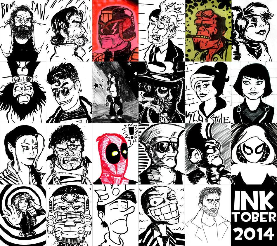 Inktober 2014 by Bleu-Ninja