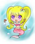 Chibi Mermaid Colored