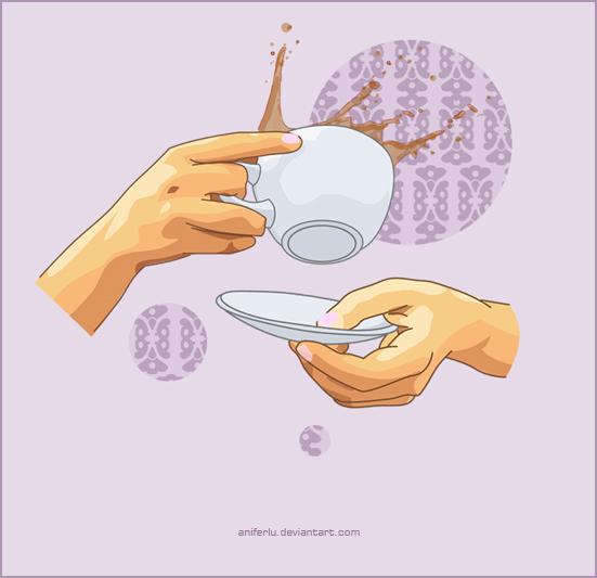 Violet Tea Time by aniferlu