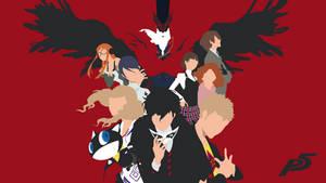 Persona 5 minimalist wallpaper 1080p