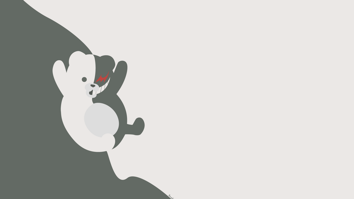 Monokuma Minimalist Wallpaper 1920x1080 By Bennyxminimalised On