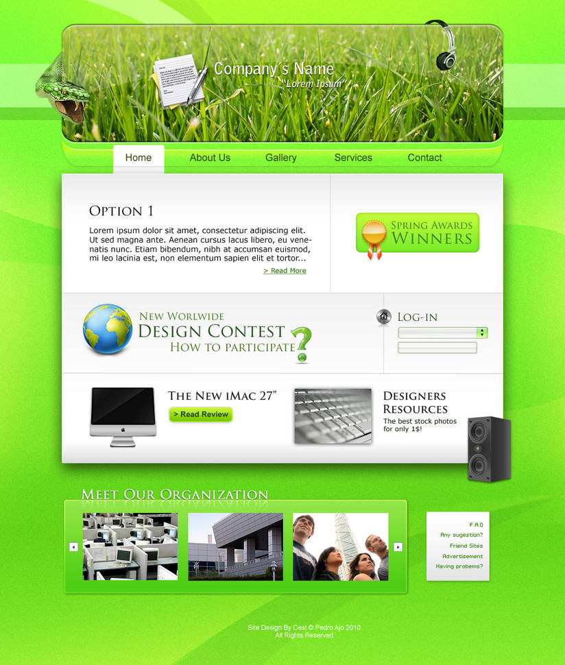 Fresh Web Layout by cestnms