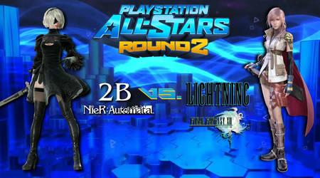 PlayStation All-Stars Round 2: 2B vs. LIGHTNING