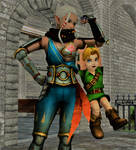 Link and Impa: 'A taste of my strength!' by DarkOverlord1296