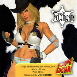 100% LUCHA: Dixie Clements by DarkOverlord1296
