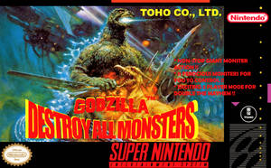 Godzilla: Destroy All Monsters (SNES cover)