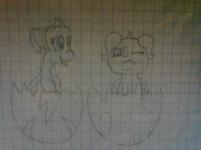 llesica and alex hatchlings by Fernixx