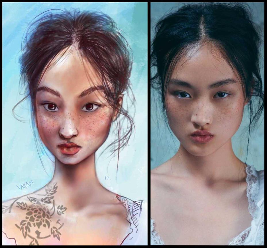 Portrait practice 090717 and ref by FERO-VARAM