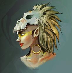 Animal instinc. Lion Sketch 02. by FERO-VARAM