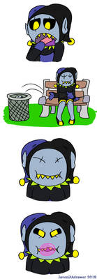 Jevil and his gum (Page 2 commission)