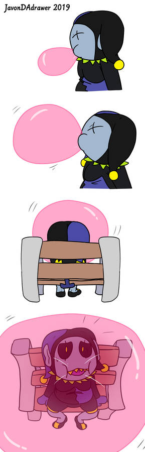 Jevil and his gum (Page 3 commission)