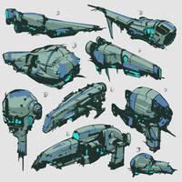 Spaceships stylized 04