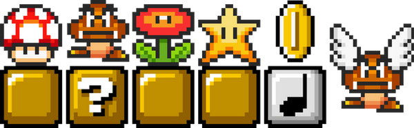 Mario Icons - Printable Resolution by Enker