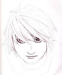 L Death Note Fanart by niaskywalk