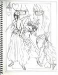 4 of Hearts Sketch