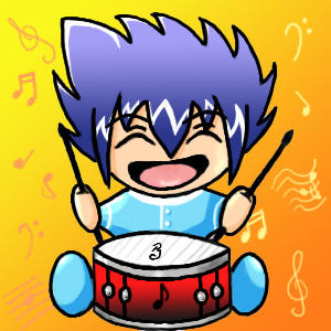 Kawaii Drummer Stevie by Kaji-Neko