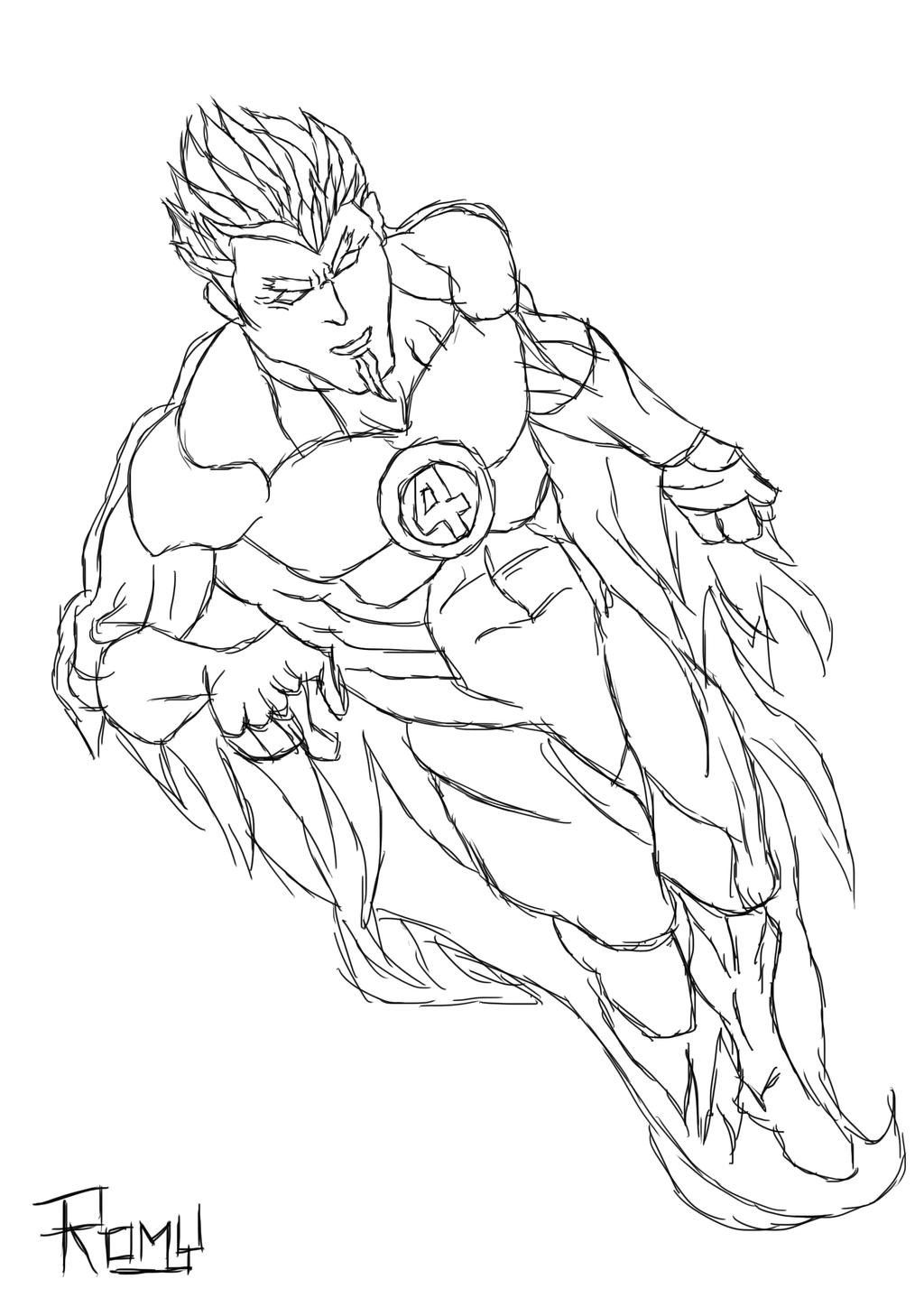 the human torch coloring pages - photo#11
