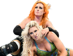 Charlotte and Becky Lynch PNG