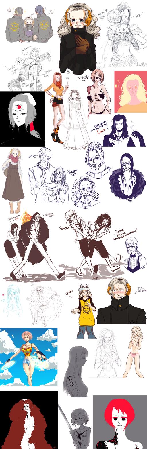 Le sketchdump 2k15 of tumblr things by Mowwiie