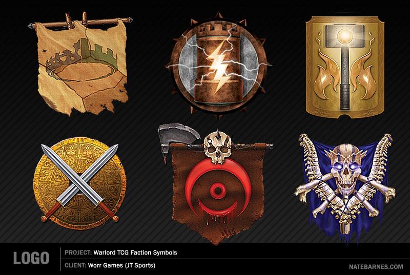 Faction Symbols - Warlord CCG by natebarnes
