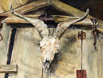 Skull on a Wall