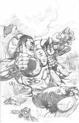Hulk vs. Wolverine vs. Frog