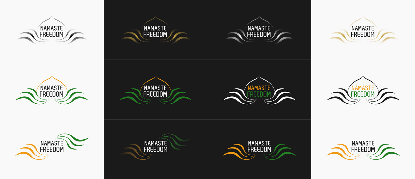 Namaste Freedom logos by Sooly