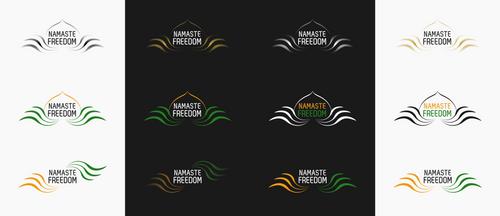 Namaste Freedom logos by Sooly