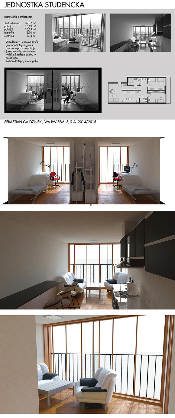 Perfect flat for students by Sooly