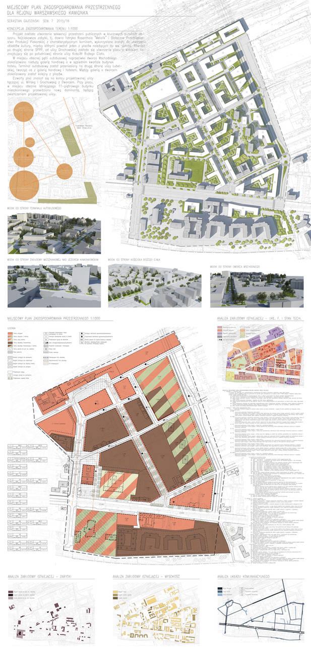 Urban plan, Warsaw Kamionek