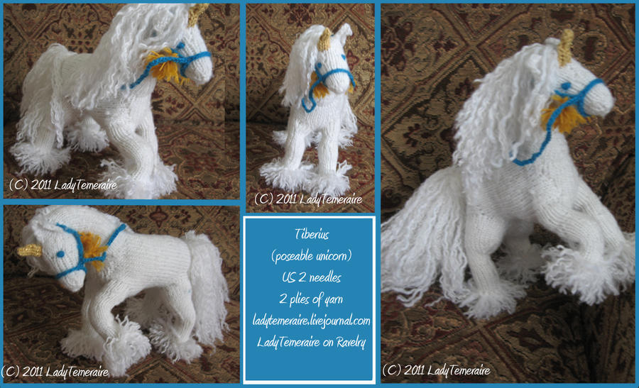-Knitting-Tiberius the Unicorn by LadyTemeraire on DeviantArt