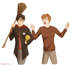 Harry Potter and Ron Weasley on Quality-HP-Fanart - DeviantArt